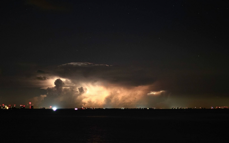 Lightning Storm On The Coast