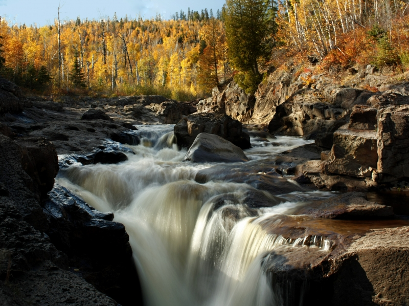 Temperance River In Autumn