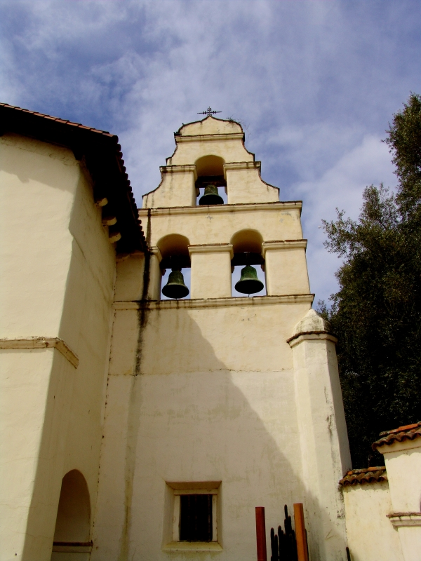Mission San Juan Bautista Proud Below Blue Sky