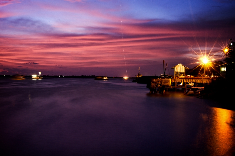 Benoa Harbour After Sunset
