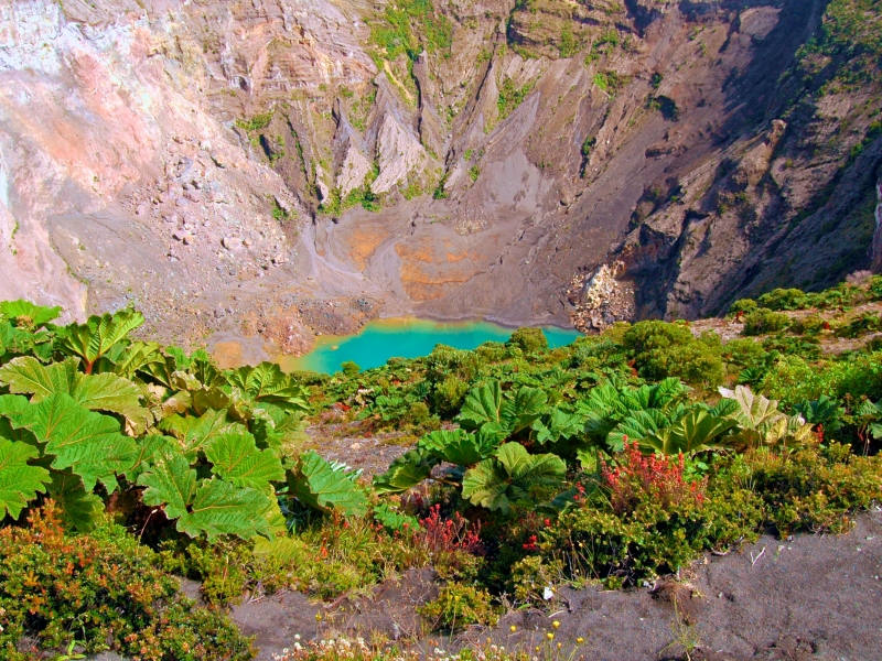 Crater Lake At Irazu Volcano
