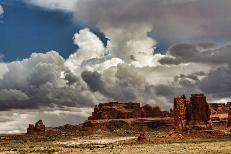 Storm Clouds Over Arches National Park