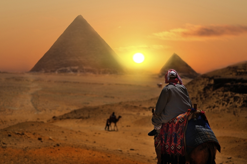 Evening At The Pyramids