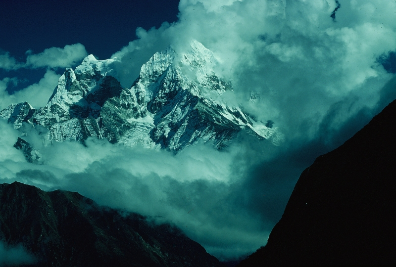 Kang Taiga And Tramserku From Tengboche