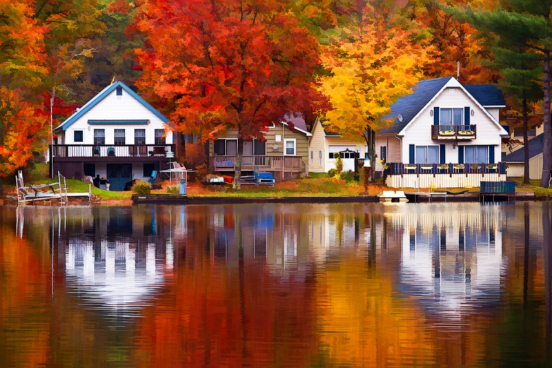Autumn Reflections In Vermont