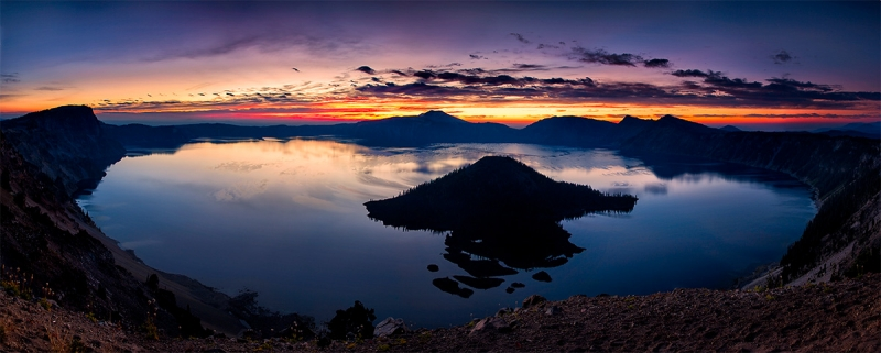 Morning Twilight, Crater Lake, Oregon
