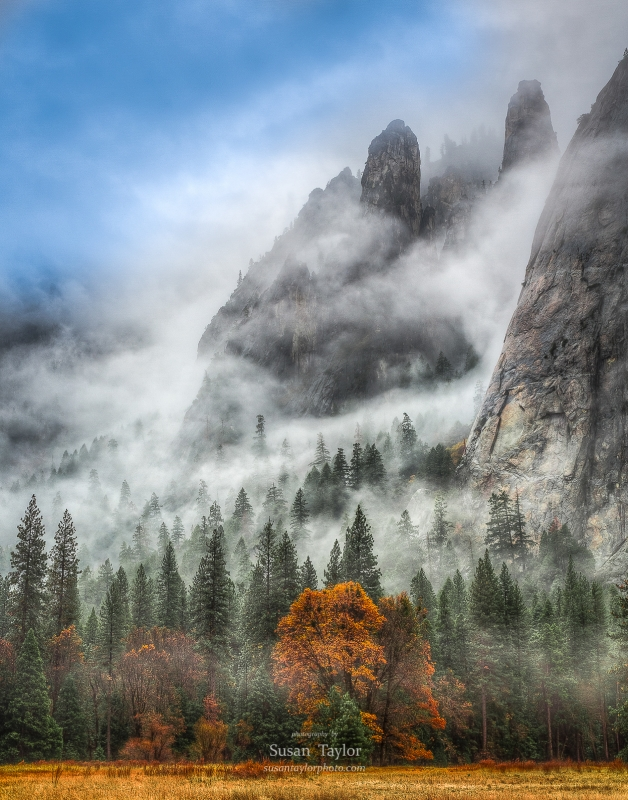 Yosemite Valley Autumn Mist