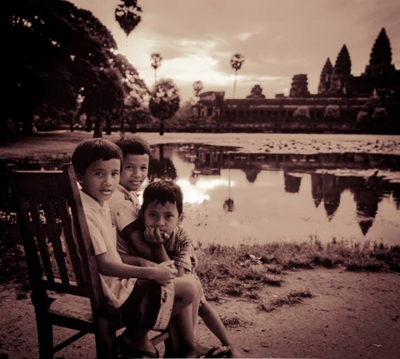 Playing In The Shadow Of Angkor Wat