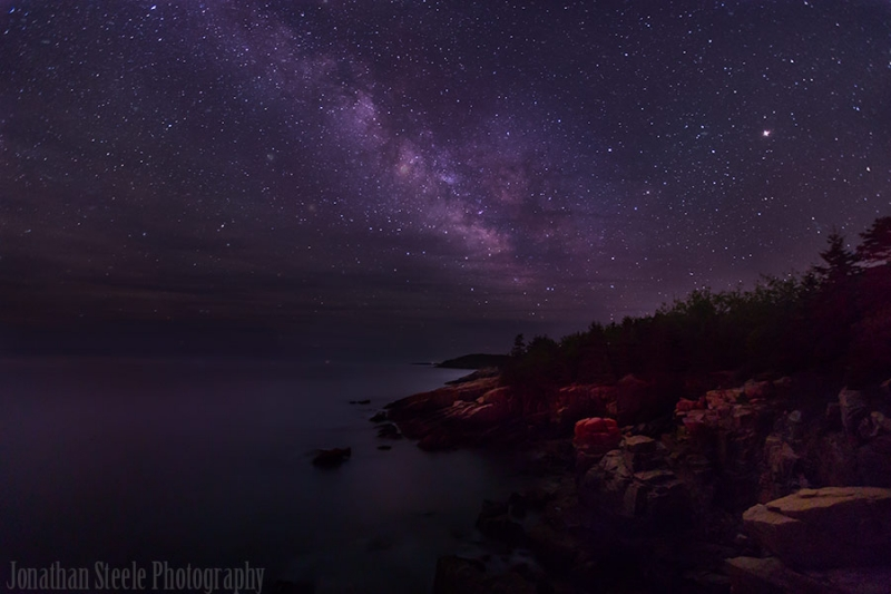 Milky Way Over The Otter Cliffs