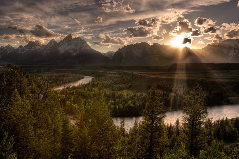 Stormy Sunset, Grand Teton National Park