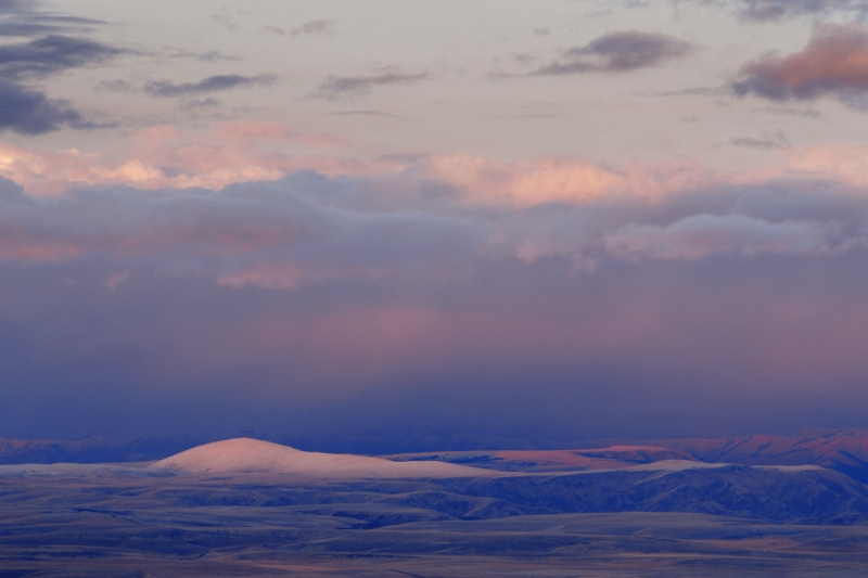 Last Light On Finley Butte