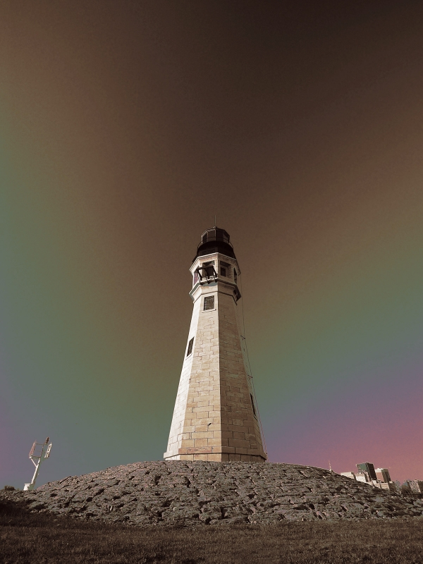 Buffalo Lighthouse – Infrared Sepia