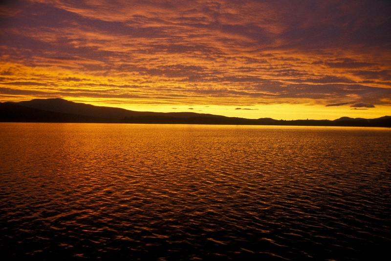 Sky And Water Afire
