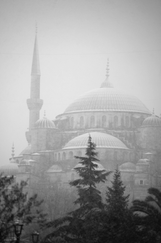 Snow On The Blue Mosque