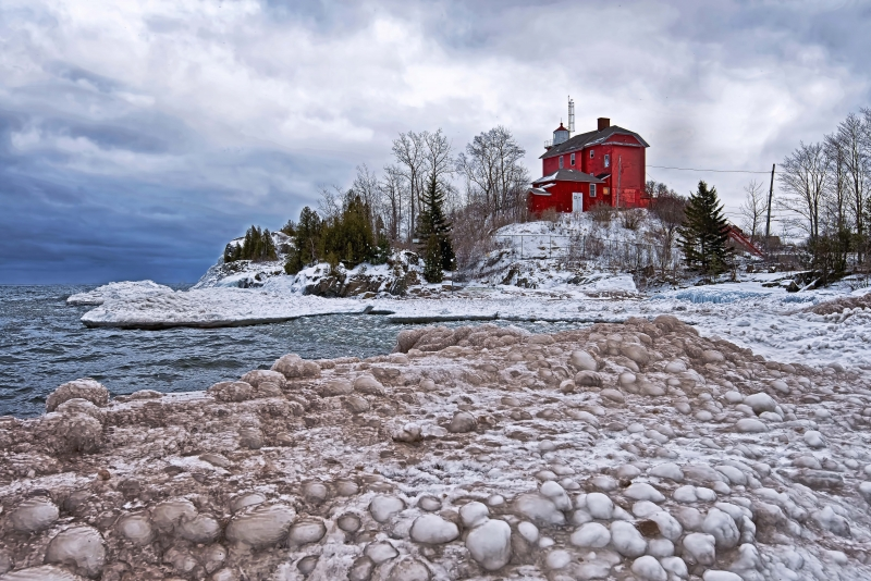 The Harbor Lighthouse On The Frozen Hill
