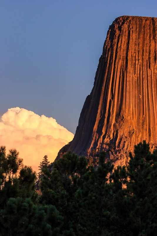 Last Rays On Devils Tower