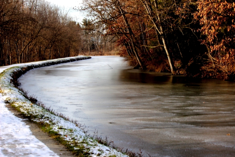 Wintry Canal Path