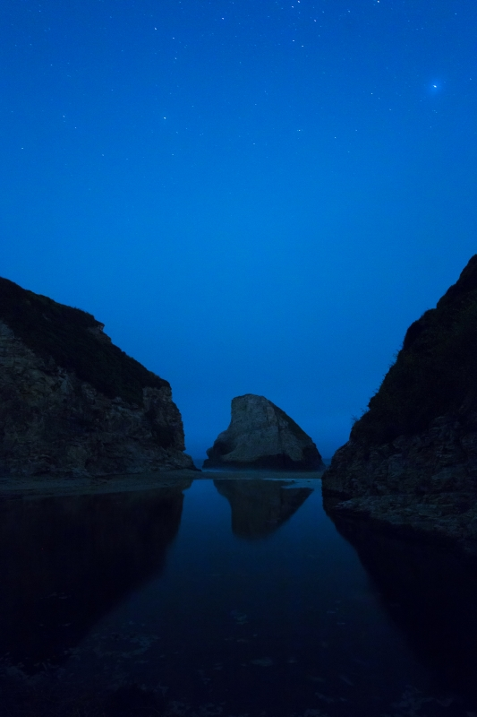 Foggy Night At Shark Fin Cove