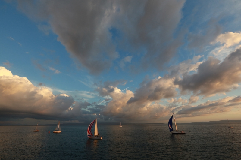 Regatta In Sunset