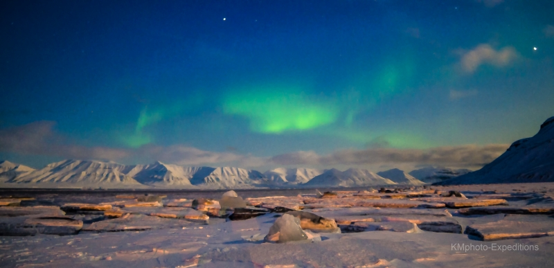 Northern Lights Over The Ice
