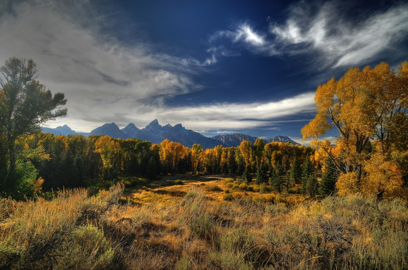 Tetons Fall