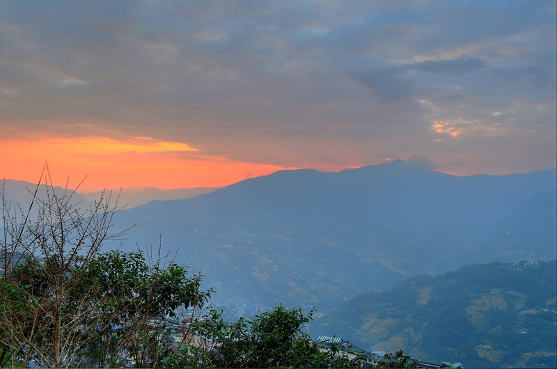 Sunset In Gangtok