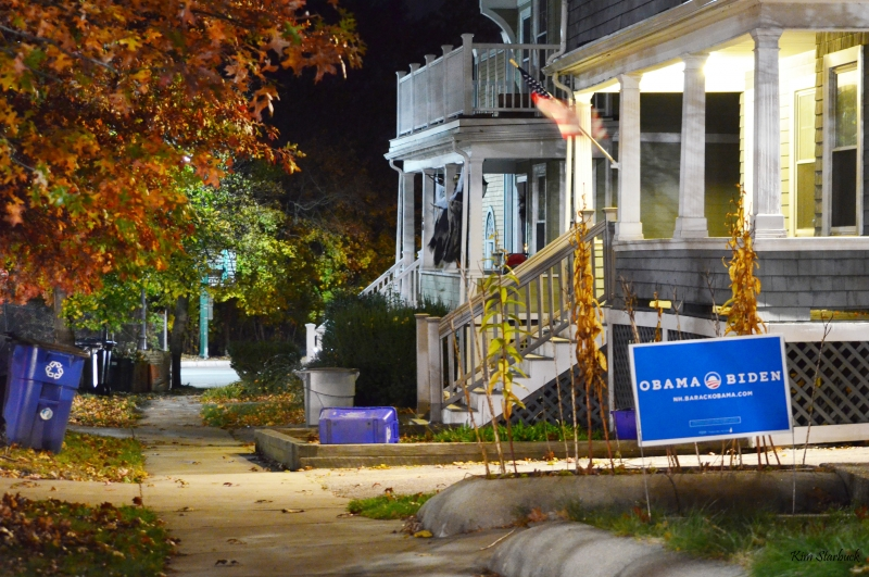 Eve Of Election Day In Cambridge, Ma