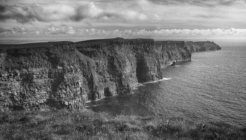 The Cliffs Of Moher In Black And White