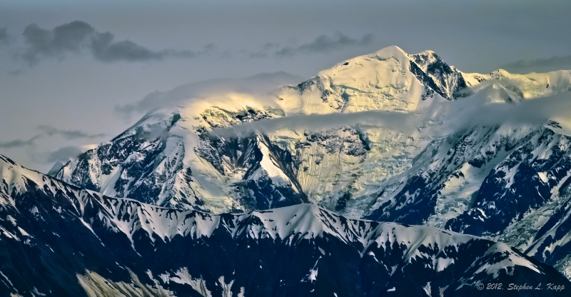 Alaskan Mountain In Sunset Light