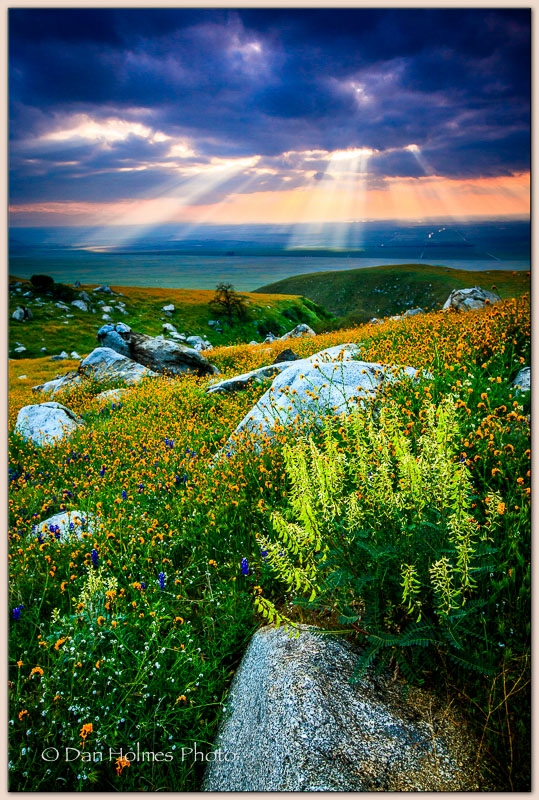 Sun Rays Over The Valley