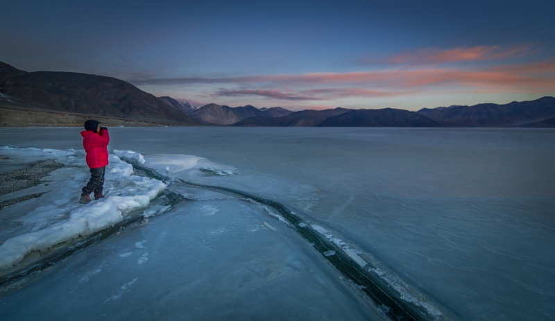 Early Morning At Frozen Pangong Tso