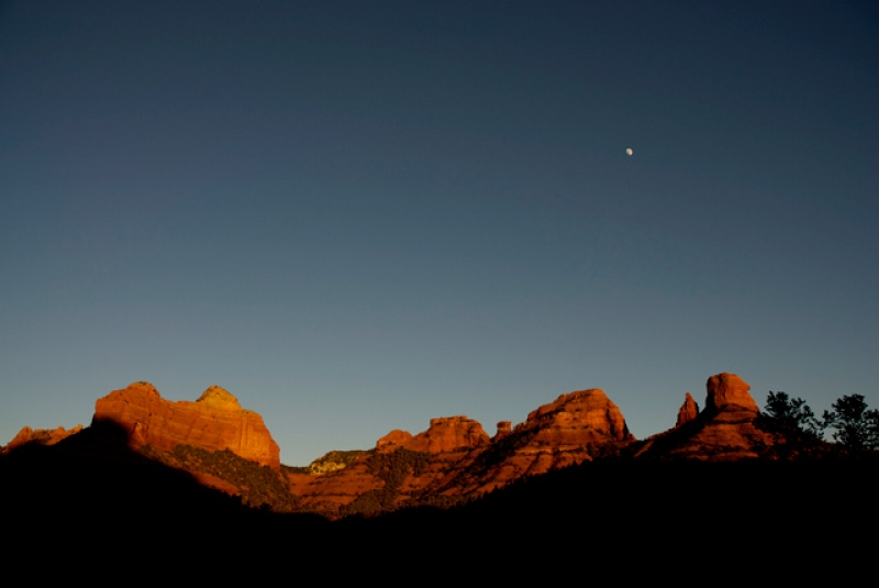Moon Over Red Rocks, Sedona