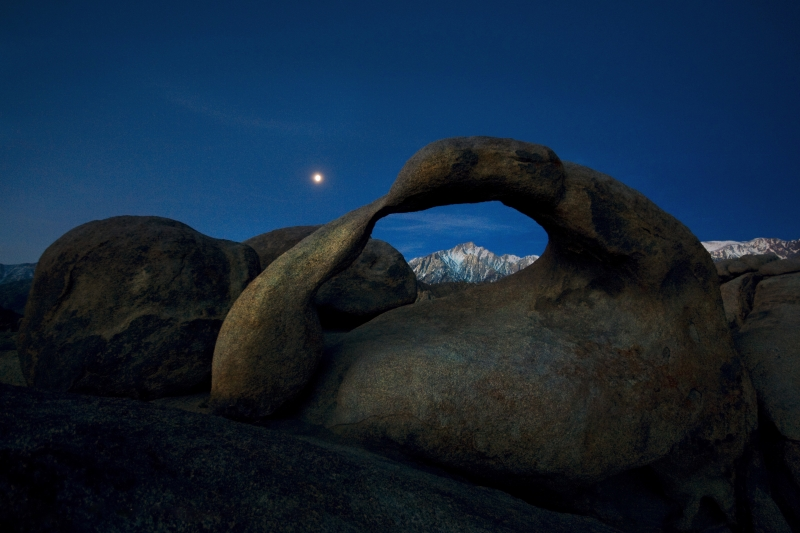Moon Over Mt. Whitney Alabama Hills