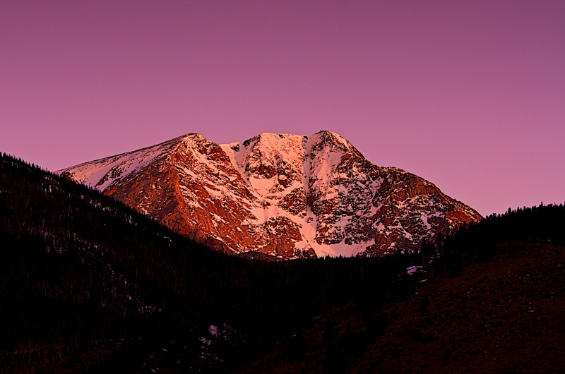 Ypsilon Peak At Sunrise