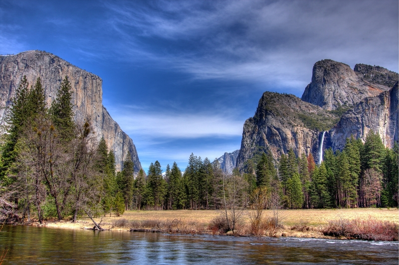 Yosemite Valley From The Merced River