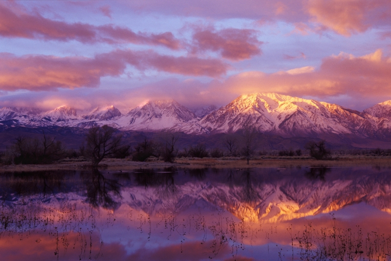 Sunrise On The Eastern Sierras, Owens Valley