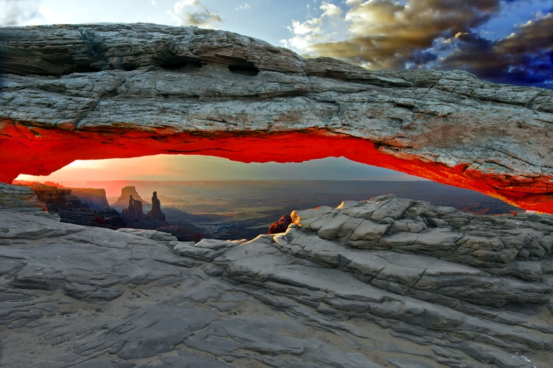 Arch On Fire