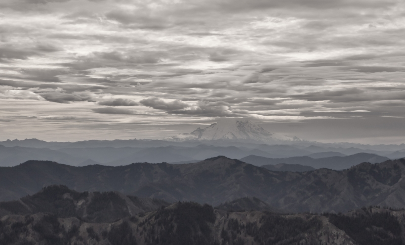 Mt Rainier From Iron Peak