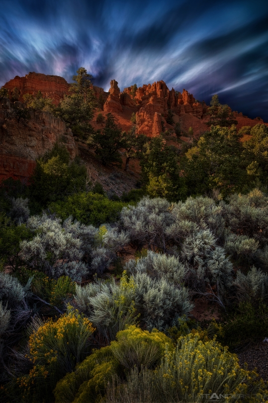 Capital Reef – Bryce Canyon Utah At Twilight