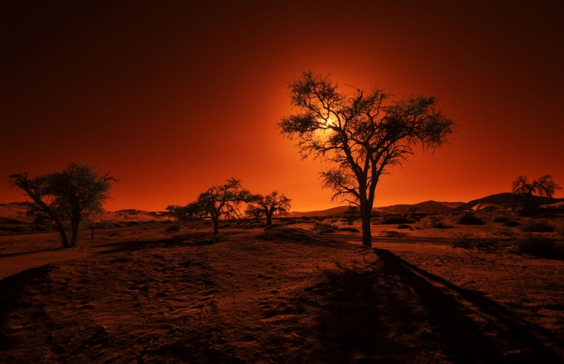Sundown In Namibia