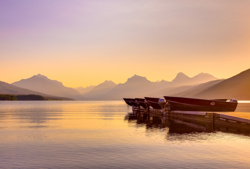 Early Morning On Lake Mcdonald