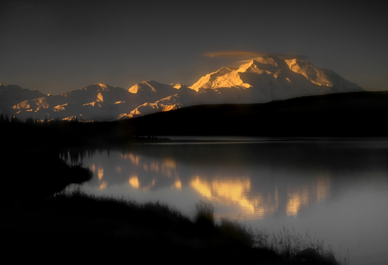 Mt Denali Reflecting In Wonder Lake