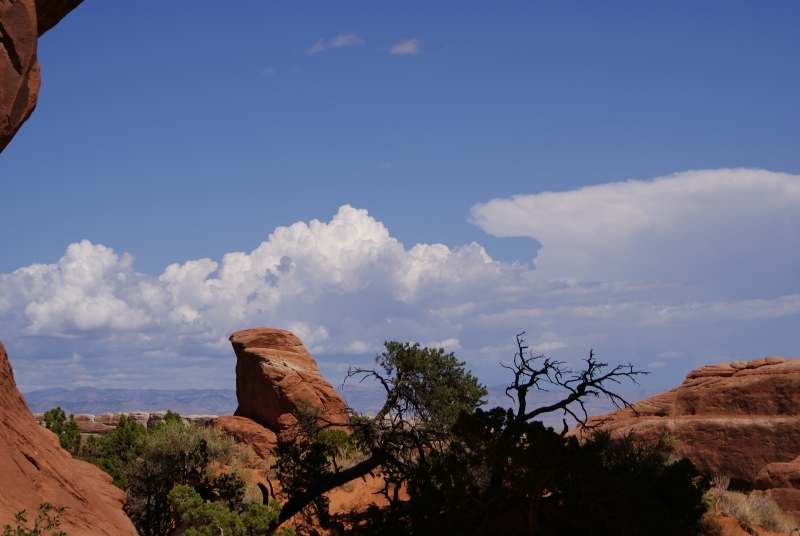 Clouds Over Red Rock