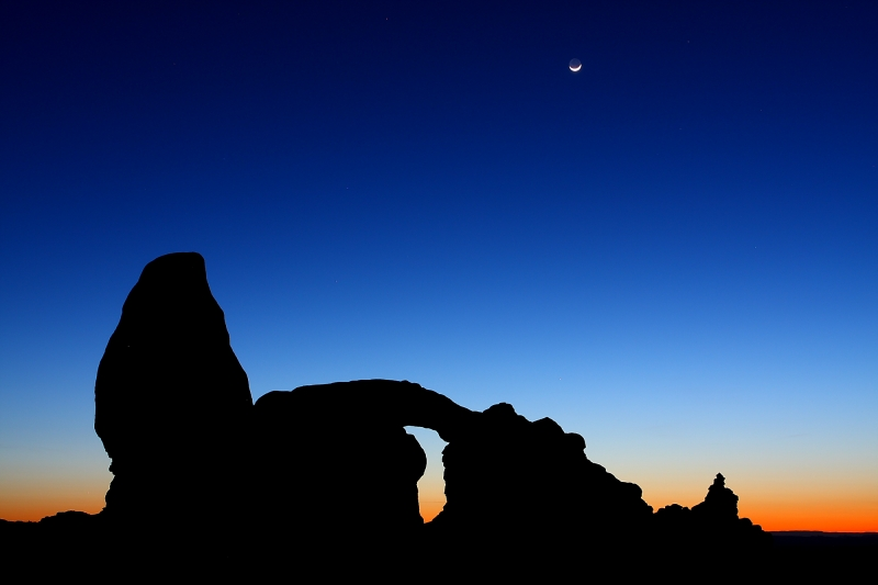Turret Arch With Crescent Moon,