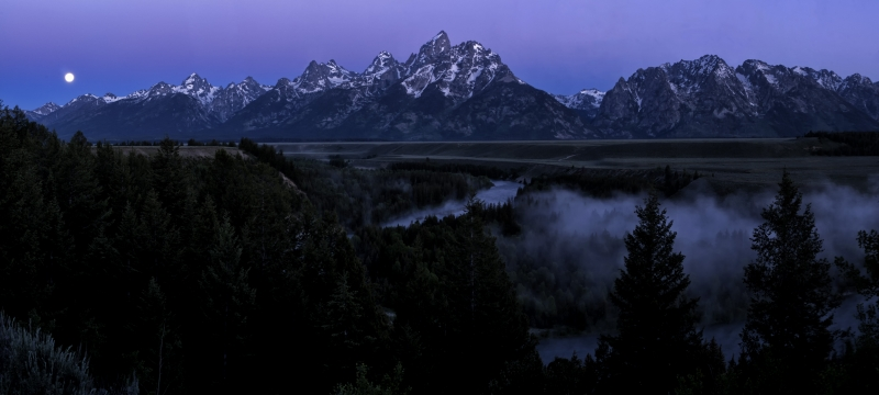 Super Moon Over The Tetons