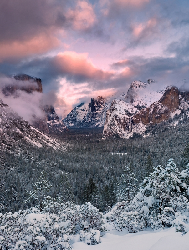Winter Sunset, Yosemite Valley