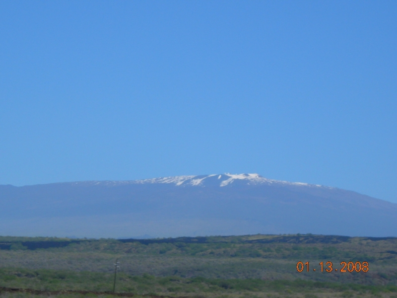 Snow On The Big Island Of Hawaii Taken From Desert Area