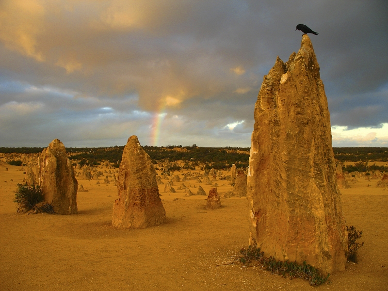 Rainbow At The Pinnacles