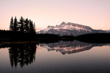 Sunset At Two Jack Lake