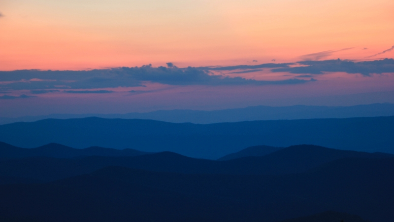 Sunset Over The Shenandoah Valley